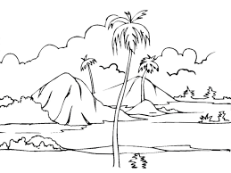 Small Picture Scenery Without Colour Scenic Coloring Pages Beautiful Scenery