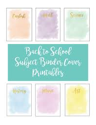 back to school subject binder printables operation  subject binder cover printables