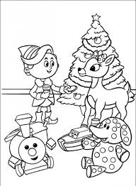 Small Picture Santa Claus and The Red nose Rudolph Reindeer coloring pages