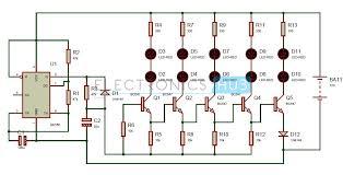 bike turning signal indicator circuit using 555 timer bike turning signal circuit diagram