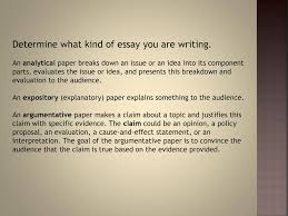 race unit essay writing tips ppt video online  determine what kind of essay you are writing