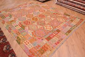 great value hand woven handmade large veg dye afghan kilim rug of all over pattern with