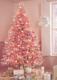 Pink Christmas Tree Domino Christbaumschmuck Rosa