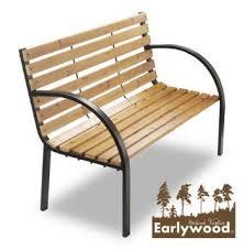 2 seater hardwood garden park bench