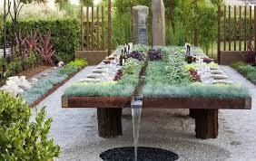 outdoor herb garden. Outdoor Table With Integrated Herb Garden E