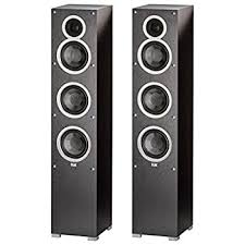 home theater tower speakers. (1 pair) elac - debut f5 tower speakers (each) bundle home theater \