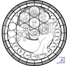 Amalthea Stained Glass Coloring Page By Akili Amethyst Colouring