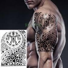 Waterproof Temporary Tattoo Stickers On Body Tribal Totem Fake Tatto
