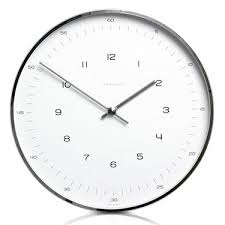 office wall clock. Max Bill Modern Office Wall Clock With Numbers - Clocks G