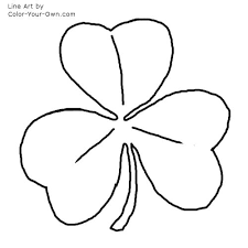 Small Picture Irish Shamrock Coloring Page