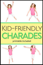Kid Cards Charades For Kids With Printable Game Cards