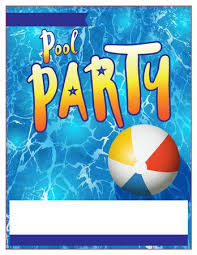 pool party flyer template blank. Beautiful Template A Blank Pool Party Invitation Template Stock Vector  60812806 Intended Pool Party Flyer Template Blank