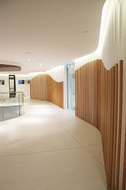 long curved walls ed with 25mm acoustic panels