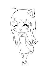 Picturesque Design Ideas Catgirl Coloring Pages Anime Cat Girl
