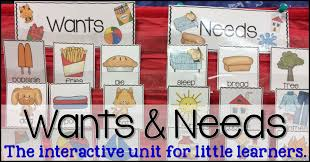 Needs And Wants Chart Wants And Needs With A Freebie Sharing Kindergarten