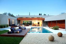 Small Pool House Designs Small House With Pool Design Modern House
