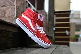 vans shoes red and white. vans sk8 hi canvas skate shoes red white and