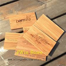 wooden business cards us 59 5 engraving wooden business card handicraft bamboo name card fashion sculpture card for commercial male women 100pcs lot in cards