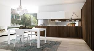 fusion antis euromobil. Euromobil Antis Dark Oak Modern Contemporary Stainless Steel Handle Fitted Italian Kitchen Cabinets Design Ideas White Fusion
