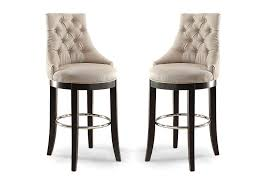 com whole interiors harmony on tufted fabric upholstered bar stool with metal footrest beige kitchen dining
