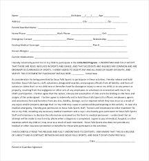 Printable Medical Release Form For Children Fascinating 48 Sample Medical Release Forms Sample Forms