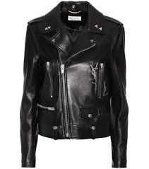 saint lau leather biker jacket noir argent crystal black women saint lau bag