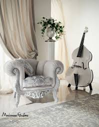 Ivory Living Room Furniture Ivory Sitting Room With Impero Style Furniture And Silver Leaf