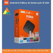 Bản quốc tế] Android Tivi Box Xiaomi Mibox 4K hỗ trợ Tiếng Việt phân phối  chính hãng - Android TV Box, Smart Box