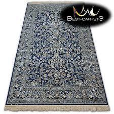 traditional carpets stylish rug windsor jacquard navy blue flowers high quality