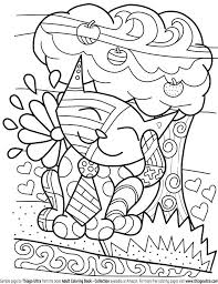 Cat Coloring Pages Printable Cat Coloring Page Christmas Cat