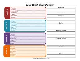 Free Weekly Meal Planner With Grocery List Printable Weekly Menu Planner Template Plus Grocery List Household