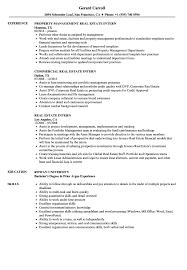 Real Estate Intern Resume Samples | Velvet Jobs