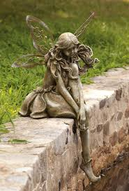 thoughtful lady fairy statue outdoor statues outdoor fairy statues