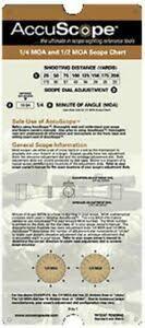 Details About Accuscope Scope Charts 1 4 Moa And 1 2 Moa Riflescope 1 4 Moa 1 2 Moa