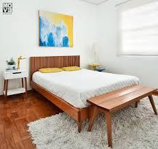 cama casal/queen com cabeceira e mesa de apoio samambaia cabecasa madeiramadeira. Cama Casal Curva Ripada Taco Jequitiba
