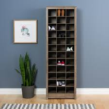 space saving storage furniture. Prepac Drifted Gray Space-Saving 36-Pair Shoe Organizer Storage Cabinet Space Saving Storage Furniture