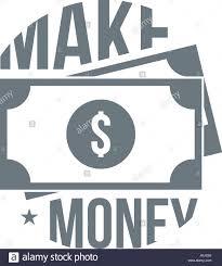 Earn Money By Designing Logos Make Money Logo Simple Style Stock Vector Art