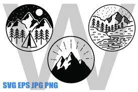 Download as svg vector, transparent png, eps or psd. Mountains Line Drawing Svg Eps Jpg Png 529885 Illustrations Design Bundles