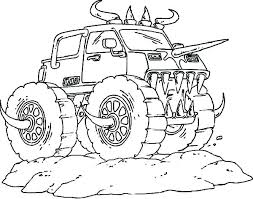 Printable Coloring Pages Of Trucks Monster Truck Sheets Free Jam