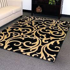 black area rugs 5x7 design black vine swirl design area rug area black and white striped
