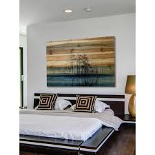 w tree isle reflects by parvez on wood pine tree wall art with 30 in h x 45 in w tree isle reflects by parvez taj printed