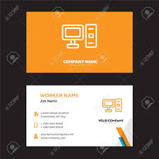 Computer Card Design Computer Business Card Design Template Visiting For Your Company