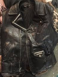 leather vest punk vintage