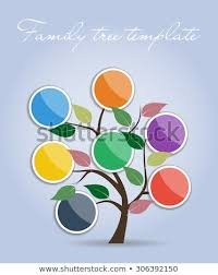 Simple Family Simple Family Tree Template Vector Illustration Stock Vector