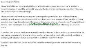 Best Sample Request For Recommendation Letter From Teacher Image ...