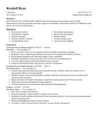 Customer Service Representative Resume Examples - Examples Of Resumes