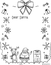 Santa Boot Template Letter To Santa Template The Best Ideas For Kids