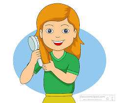 combing hair clipart. Delighful Clipart Girl Brushing Hair Clipart 1 On Combing