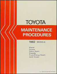 1982 toyota land cruiser fj60 electrical wiring diagram original 4 1982 toyota car truck maintenance procedures manual original 24 00