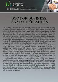 What Does Sop Stand For In Business This SOP for MS in business analytics for freshers can get your 1